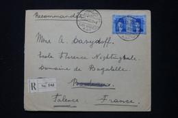 EGYPTE - Enveloppe En Recommandé De Sidi Gaber Pour La France En 1939  - L 89683 - Briefe U. Dokumente