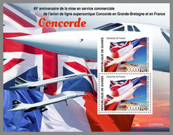 GUINEA REP. 2020 MNH Concorde Airplanes Flugzeuge Avions S/S - IMPERFORATED - DHQ2109 - Concorde