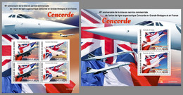 GUINEA REP. 2020 MNH Concorde Airplanes Flugzeuge Avions M/S+S/S - IMPERFORATED - DHQ2109 - Concorde