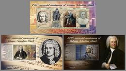 LIBERIA 2020 MNH Johann Sebastian Bach Composer Komponist Compositeur SET - OFFICIAL ISSUE - DHQ2109 - Music