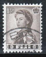 Fiji 1959 Queen Elizabeth 1½d Single Definitive Stamp. - Fiji (...-1970)