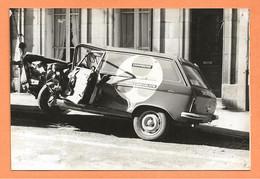 PHOTO ORIGINALE - ACCIDENT DE VOITURE PEUGEOT 204 BREAK TOLÉ - CRASH CAR - Auto's