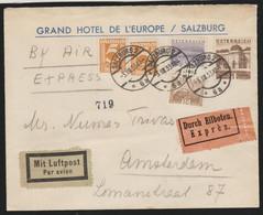Austria Cover 1933 To Holland,Durch Eilboten. - Cartas