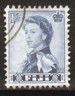 Fiji 1959 Queen Elizabeth 1d Single Definitive Stamp. - Fiji (...-1970)