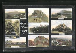 AK Aach / Hegau, Aachquelle, Stadt Und Dorf, Hohenkrähen, Hohenhöwen - Non Classés