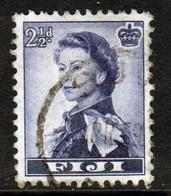 Fiji 1954 Queen Elizabeth 2½d Single Definitive Stamp. - Fiji (...-1970)