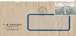 LUXEMBOURG - BUSTA VIAGGIATA - J. M. HOSCHEIT - MASION DE GROS - LUXEMBOURG - Briefe U. Dokumente