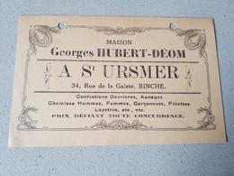 Binche Maison Hubert  Deom  A St Ursmer - Non Classificati