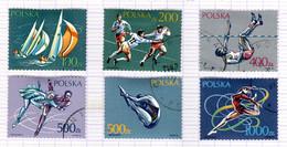 PL+ Polen 1990 Mi 3258-63 Sport - Gebruikt