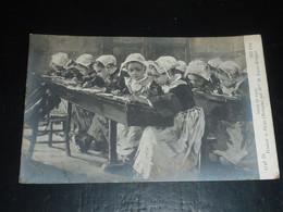 SALON De 1909 - Pendant La Dictée (Bretagne) Par Mme M.Lucas-Robiquet - TABLEAU ILLUSTRATEUR PEINTRE (CS) - Pintura & Cuadros