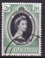 Fiji 1953 Single Stamp To Celebrate The Coronation In Fine Used Condition. - Fiji (...-1970)