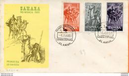 """Maroc,  Sahara Espagnol ; FDC 1er Jour ;1963  """" Pro Infancia 1963 """"Morocco,Marruecos - Sahara Español"""
