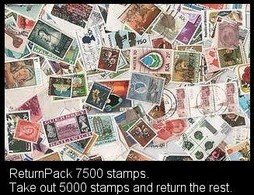 ReturnPack British Commonwealth 7500 STAMPS Off Paper Kiloware MissionBag Take 5000 Stampsreturn The Rest.All For +€15 - Lots & Kiloware (mixtures) - Min. 1000 Stamps