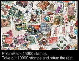 ReturnPack British Commonwealth 15000 STAMPS Off Paper Kiloware MissionBag Take 10000 Stamps Return The Rest. All +€20 - Lots & Kiloware (mixtures) - Min. 1000 Stamps