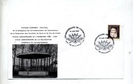 Lettre Cachet Bouchain Anniversaire Harmonie - Commemorative Postmarks