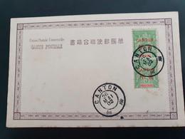 Carte Postale Avec 2x Surchargé Canton Millésimes 1899. Nr. 5. 26-5-1902 - Storia Postale