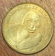 67 MONTAGNE DES SINGES 2009 MÉDAILLE SOUVENIR MONNAIE DE PARIS JETON TOURISTIQUE MEDALS COINS TOKENS - 2009