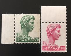 1969 - 74 - Italia - San Giorgio Di Donatello - Lire 500 + Lire 1000 - Serie Completa - 1961-70: Mint/hinged