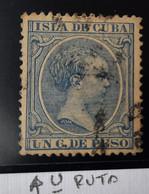 Cuba N136(U Rota - Cuba (1874-1898)