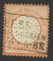 Germany, 1/2 Gr. 1872, Sc # 16, Mi # 18, Used, Pless - Oblitérés