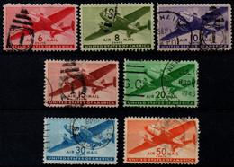 USA 1941-44, Scott C25-C31, Used, Air Mail, Airplane - 2a. 1941-1960 Usados