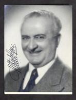 Teatro Cinema - Autografo Dell'attore Gilberto Govi - 1950 Ca. - Autografi