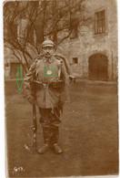 14-18.WWI Fotokarte-Deutsche Soldaten - SELTEN - Bayreuth Erkennungsmarke Ausmarsch - 1914-18