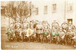 14-18.WWI Fotokarte-Deutsche Soldaten - SELTEN - Bayreuth Erkennungsmarke Ausmarsch Kompanie - 1914-18