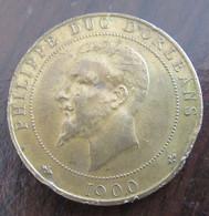 France - Médaille Philippe, Duc D'orléans - 1900 - Laiton - Royaux / De Noblesse
