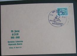 Koverto Kun Esperanto Stampo 1981 - Cartas