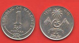 Maldive 1 Rufiyaa 1990 - Maldives