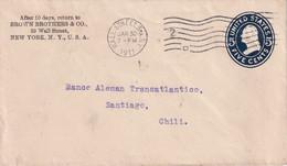 USA 1911    ENTIER POSTAL/GANZSACHE/POSTAL STATIONARY  LETTRE DE NEW YORK - 1901-20