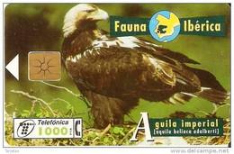 *SPAGNA - FAUNA IBERICA: AGUILA IMPERIAL* - Scheda Usata - Emisiones Básicas
