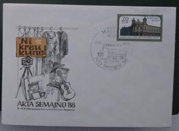 Koverto Kun Esperanto Stampo. 1988 Arta Semajno - Cartas