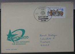Koverto Kun Esperanto Stampo. 1987 - Cartas