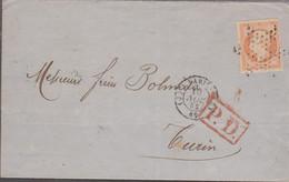 LSC - N°16 Percé En Ligne OBL. Etoile Muette + Càd PARIS (J) / 10 N0V. 52 Pour TURIN - 1849-1876: Periodo Clásico