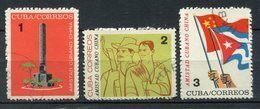 Cuba 1964. Yvert 712-14 Usado. - Usados