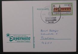 Postkarto Kun Esperanto Stampo. 1987 - Cartas