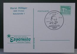Postkarto Kun Esperanto Stampo. 1989 - Cartas