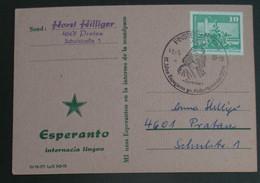 Postkarto Kun Esperanto Stampo 1980 - Cartas