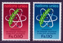 NU (Geneve) 1977 Yvert 70 / 71 ** TB - Nuevos