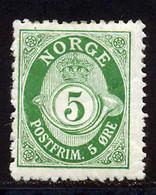 Norvege 1910 Yvert 72 * B Charniere(s) - Unused Stamps
