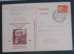 Esperanto Postkarto 1987 Zamengof - Cartas
