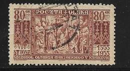 POLOGNE 1933 VIT-STWOSZ YVERT N°366 OBLITERE - Used Stamps