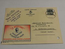 René Pirotton Chenee Oblitéré 1952 Envoyé à Esch-Alzette - Cartes Postales [1951-..]