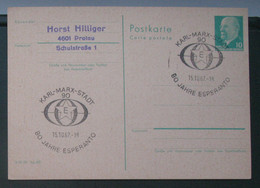 Postkarto Kun Esperanto Stampo 1967 - Cartas