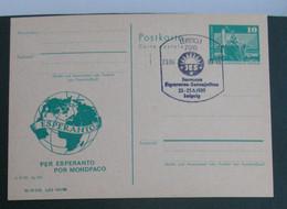 Privata Eldono De Postkarto Kun Esperanto Stampo 1989 - Cartas