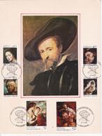 B01-355 Carte Souvenir FDC 1816 1817 1818 1819 1820 1821 Pierre Paul Rubens Peintre Peinture 04-09-1976 5000 Namur - Cartas Commemorativas