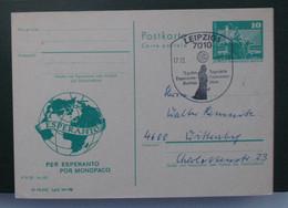Privata Eldono De Postkarto Kun Esperanto Stampo 1984 - Cartas