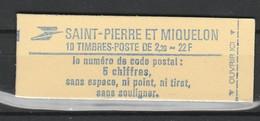 SAINT PIERRE ET MIQUELON CARNET 1986 YT N° C464 ** - Carnets
